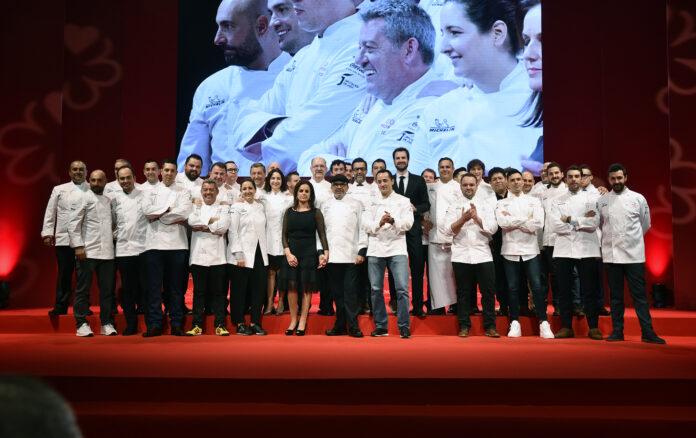 chefs en presentación evento guía michelin 2020