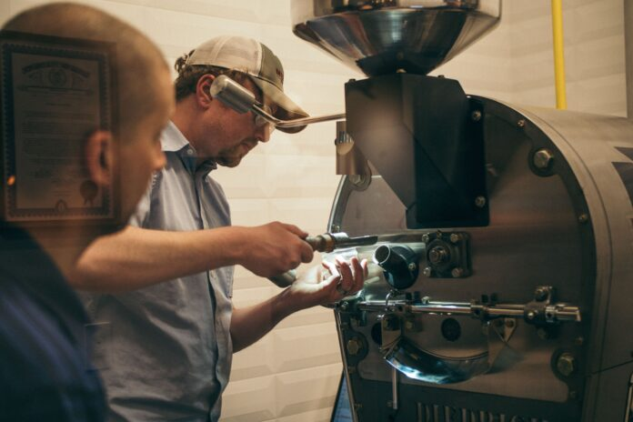 control de calidad de máquina de café