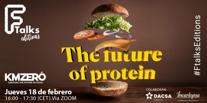 The Future Of Protein - hamburguesa con ingredientes flotando