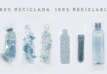 botella auara reciclada