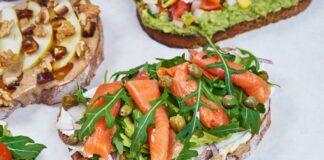 tres sandwiches vegetales