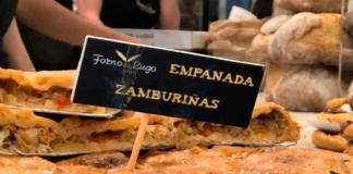 Forno de lugo en un estand con sus empanadas